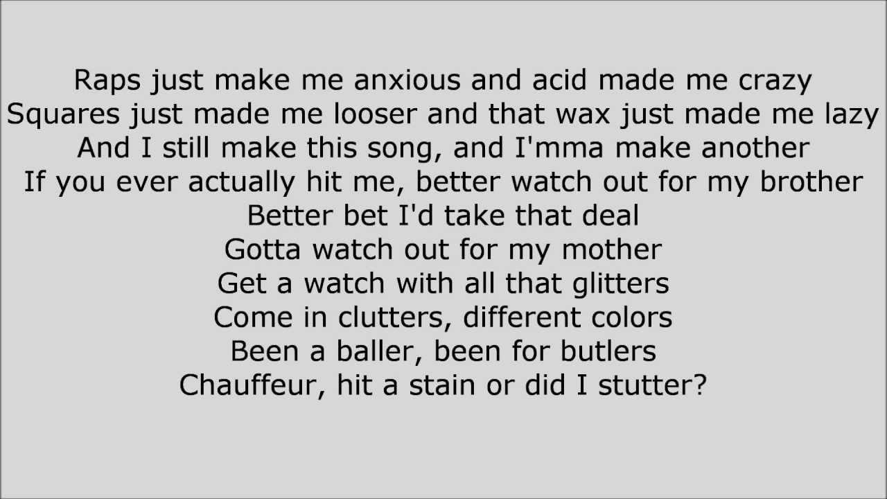 good raps lyrics