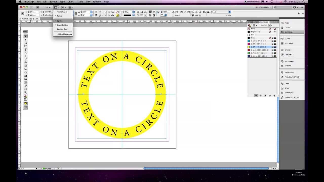 Text around a circle tutorial Indesign CS5 YouTube