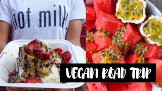 Ketchup Shower & Vegan Cinnamon Rolls | What I Ate Vegan Road Trip | Day 1