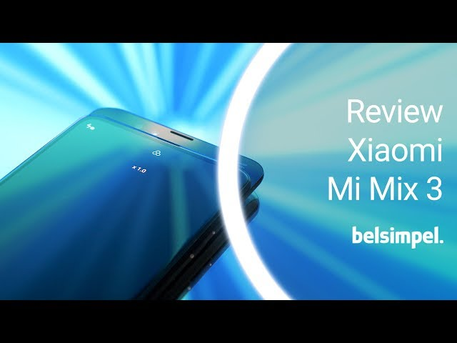 Belsimpel-productvideo voor de Xiaomi Mi Mix 3 128GB Black