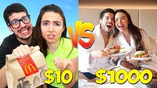$10 DATE vs $1000 DATE with Boyfriend! (Challenge)