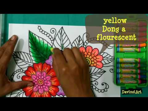 Diy How To Draw And Color Cartoon Sunflowers Videomoviles Com