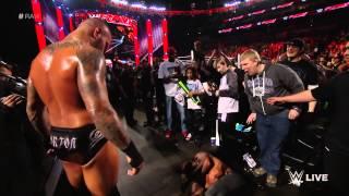 Randy Orton utterly dismantles Seth Rollins: Raw, March 9, 2015