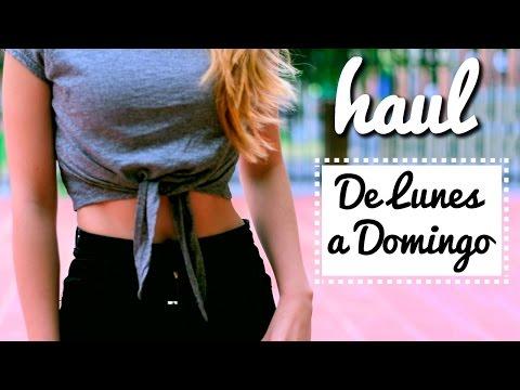 HAUL (Agosto 2016) +  7 OUTFIT IDEAS  De Lunes a Domingo  Kika Nieto