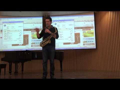 Eric Marienthal Sax Clinic in Taipei (part 1/3) (2012/11/27)