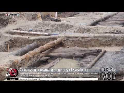 Odnaleziono drewnianą drogę przy ul.Klasztornej
