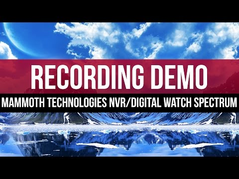 Recording Schedule: Mammoth Technologies NVR with Digital Watch Spectrum