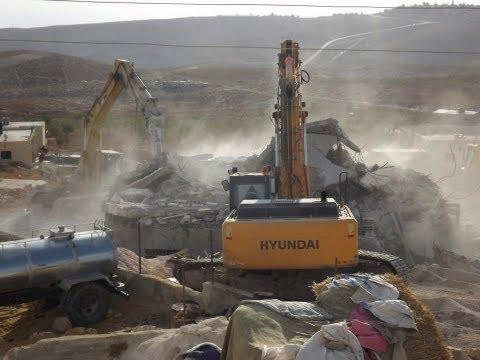 Demolitions by IOF, Derath & Jawaya, south Hebron hills 6.11.2012