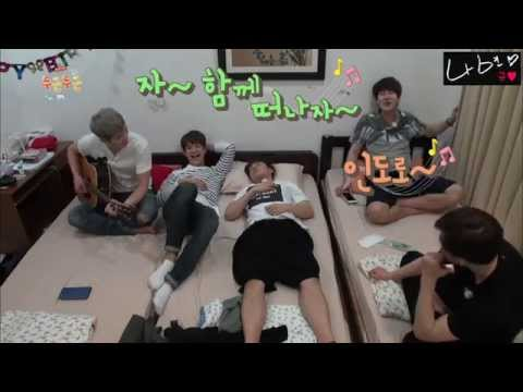 150424 FI ep3. 규현 두근두근인도 자작송 Kyuhyun making a song 'fluttering india song' on the spot