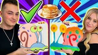 PANCAKE ART CHALLENGE! BOYFRIEND VS GIRLFRIEND