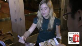 Kyla Kennedy talks about The Walking Dead outside ArcLight Theatre in Hollywood