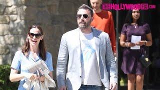 Ben Affleck & Jennifer Garner Attend Easter Sunday Church Service After Filing For Divorce 4.16.17