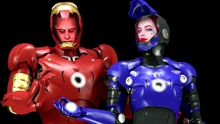 IRON MAN & IRON GIRL - harley quinn and joker