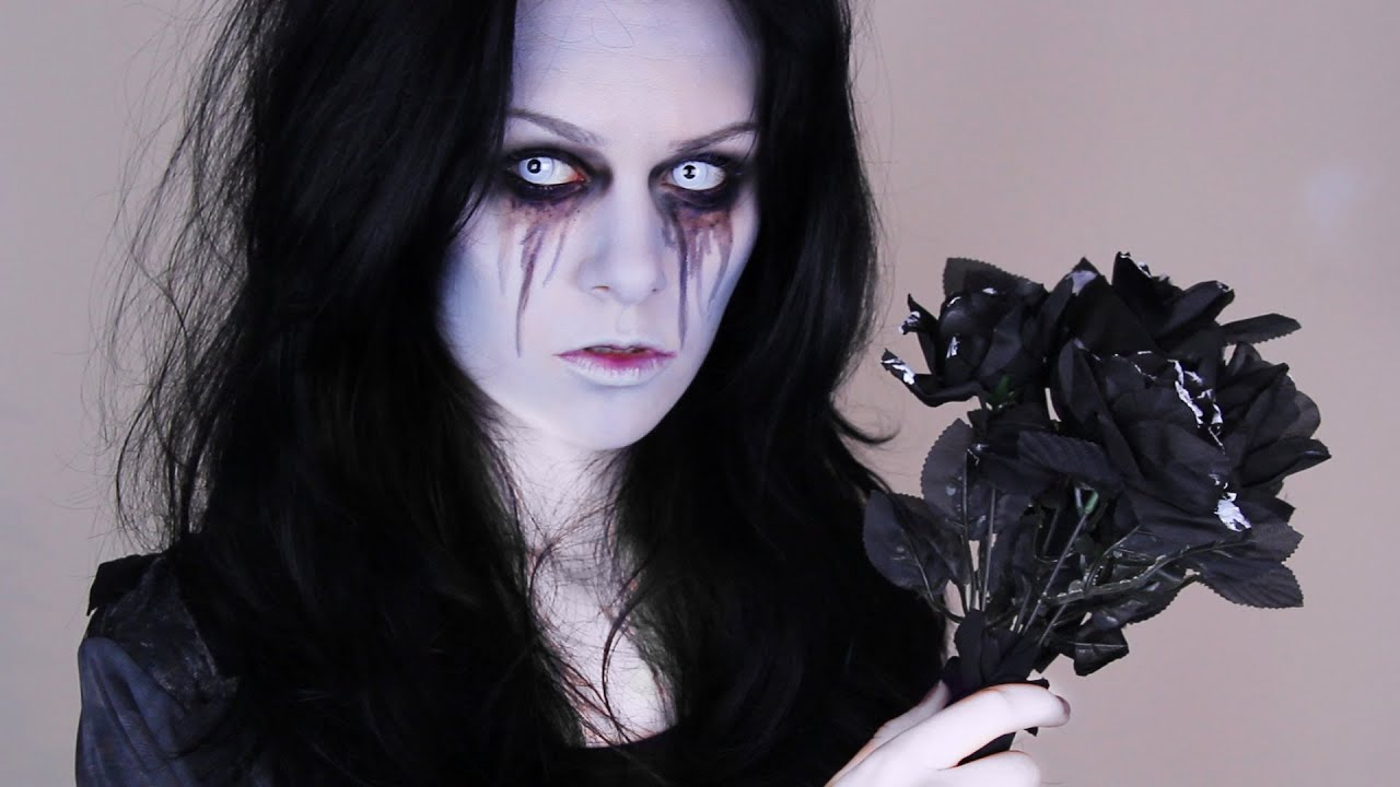 halloween bride zombie bride makeup tutorial youtube. Black Bedroom Furniture Sets. Home Design Ideas