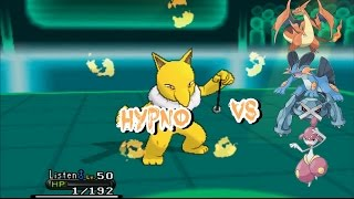 Pokemon X and Y wifi Battle: Hypno can't be stopped!!