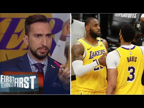 """Nick Wright """"Lakers are back"""" LeBron and AD combines 57 Pts as Lakers def Suns to even series 1-1"""