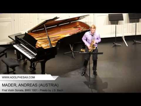Dinant 2014 - Mader, Andreas - First Violin Sonata, BWV 1001 - Presto by J.S. Bach