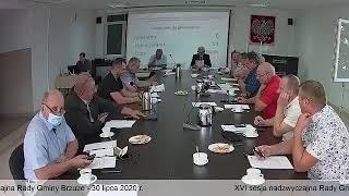 XVI sesja nadzwyczajna Rady Gminy Brzuze
