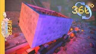 360 Minecraft Roller Coaster [ANIMATION] - 4k HD