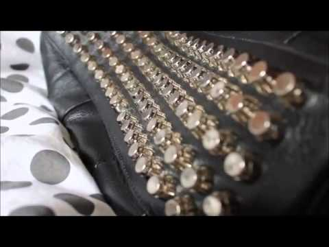 Alexa Spikes Studded Leather Black With Silver Studs