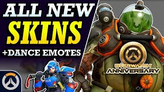 ALL NEW LEGENDARY SKINS, Dance Emotes, & More! - Overwatch 2019 Anniversary Event Cosmetic Items