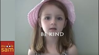 BE KIND by 5-year-old Sophia ⚡️Mugglesam