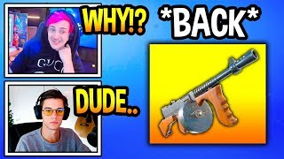 "Streamers React To ""DRUM GUN"" BACK In Fortnite! (Fortnite Moments)"