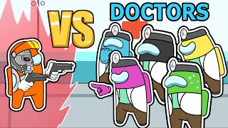 9 DOCTORS vs SUPER IMPOSTOR (among us mods)
