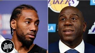 Kawhi Leonard and Magic Johnson have spoken about the Lakers - Ramona Shelburne | The Jump