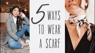 5 Easy Ways To Wear A Scarf // by CHLOE WEN