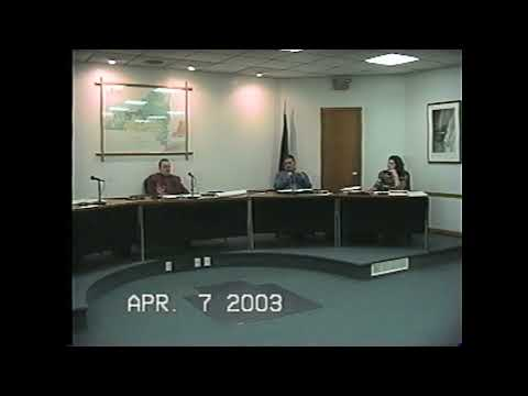 Rouses Point Village Board Meeting  4-7-03