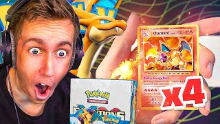 *OMG* I Packed 4 Charizards From 1 Pokemon Evolutions Booster Box!!!