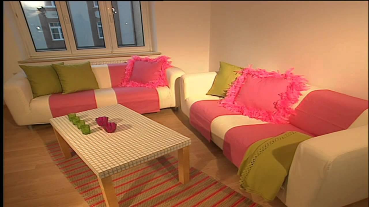 deko tipps retro wohnzimmer innendekoration in rosa youtube. Black Bedroom Furniture Sets. Home Design Ideas