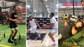 Lakers Danny Green GETS IN WEIGHT ROOM, Anthony Davis WORKING #Lakers #ESPN #NBA