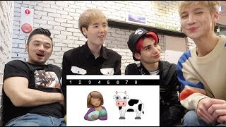 Guess Kpop Groups by Emoji Ft. Edward Avila, Under Nineteen Eddie, and Trophy Cat's Friday