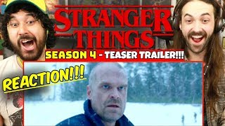 STRANGER THINGS 4 | From Russia with love... TRAILER REACTION!!!