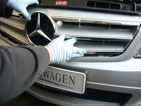 Plasti Dip Emblems >> W204-Demontage Kühlergrill - YouTube