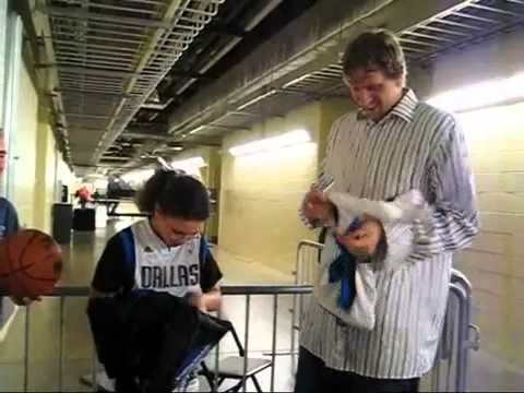 A Wish with Wings grant's Chelsea's Wish to meet Dirk Nowitzki