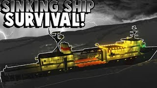 Sinking Ship SURVIVAL and RESCUE! - Stormworks Multiplayer Gameplay Challenge! (Kid Friendly Gaming)