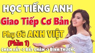 Học Tiếng Anh Giao Tiếp Cơ Bản - Phụ Đề Anh Việt - Phần 1 - Chậm và Dễ Dàng