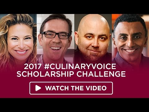 Entering is easy. Winning is life-changing. Take the 2017 #CulinaryVoice Scholarship Challenge and you could win one of 18 scholarships to the Institute of Culinary Education in New York City! Celebrity chefs and food stars Marcus Samuelsson, Ted Allen, Donatella Arpaia and Duff Goldman challenge you to share your culinary or hospitality voice with the world, with more than $212,000 in scholarships up for grabs. Learn more at https://www.ice.edu/culinaryvoice