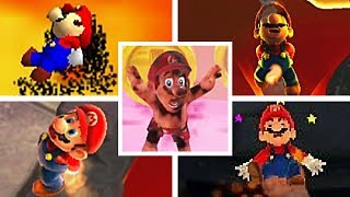 Evolution Of Mario BURNED TO DEATH BY LAVA in 3D Mario Games (1996-2017)