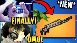 Streamers React to *NEW* LEGENDARY Infantry Rifle + Relax Axe Pickaxe! | Fortnite Highlights