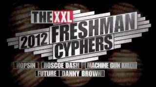 Hopsin, Roscoe Dash, Machine Gun Kelly, Future and Danny Brown Cypher - 2012 XXL Freshman Part 1