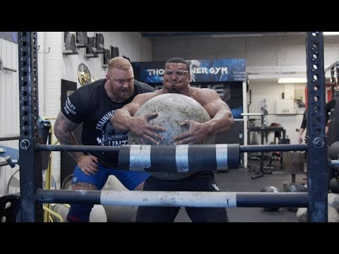 FIRST TIME LIFTING ATLAS STONES WITH WORLDS STRONGEST MAN