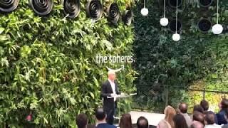 Jeff Bezos opens the Amazon Spheres