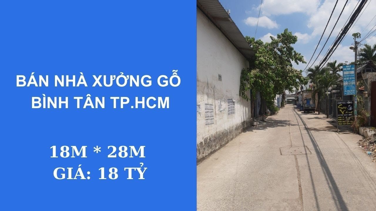 Bán đất có nhà xưởng Bình Tân 492m2, HXT, thổ cư, giá 18 tỷ (TL), chính chủ. LH: 0981789011 video