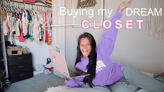buying my DREAM CLOSET *try on haul + online shopping*
