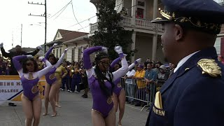 Southern University vs Miles College Marching Band - 2018 Bacchus Mardi Gras Parade