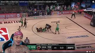 FlightReacts Celtics vs Miami Heat - Full ECF Game 4 Highlights   September 23, 2020 NBA Playoffs!